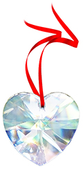 Free Gift with any $50 purchase - 30% leaded Crystal Heart Prism 40mm