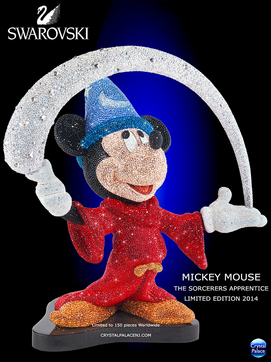 Swarovski Crystal Myriad Disney Mickey The Sorcerers Apprentice LE 2014