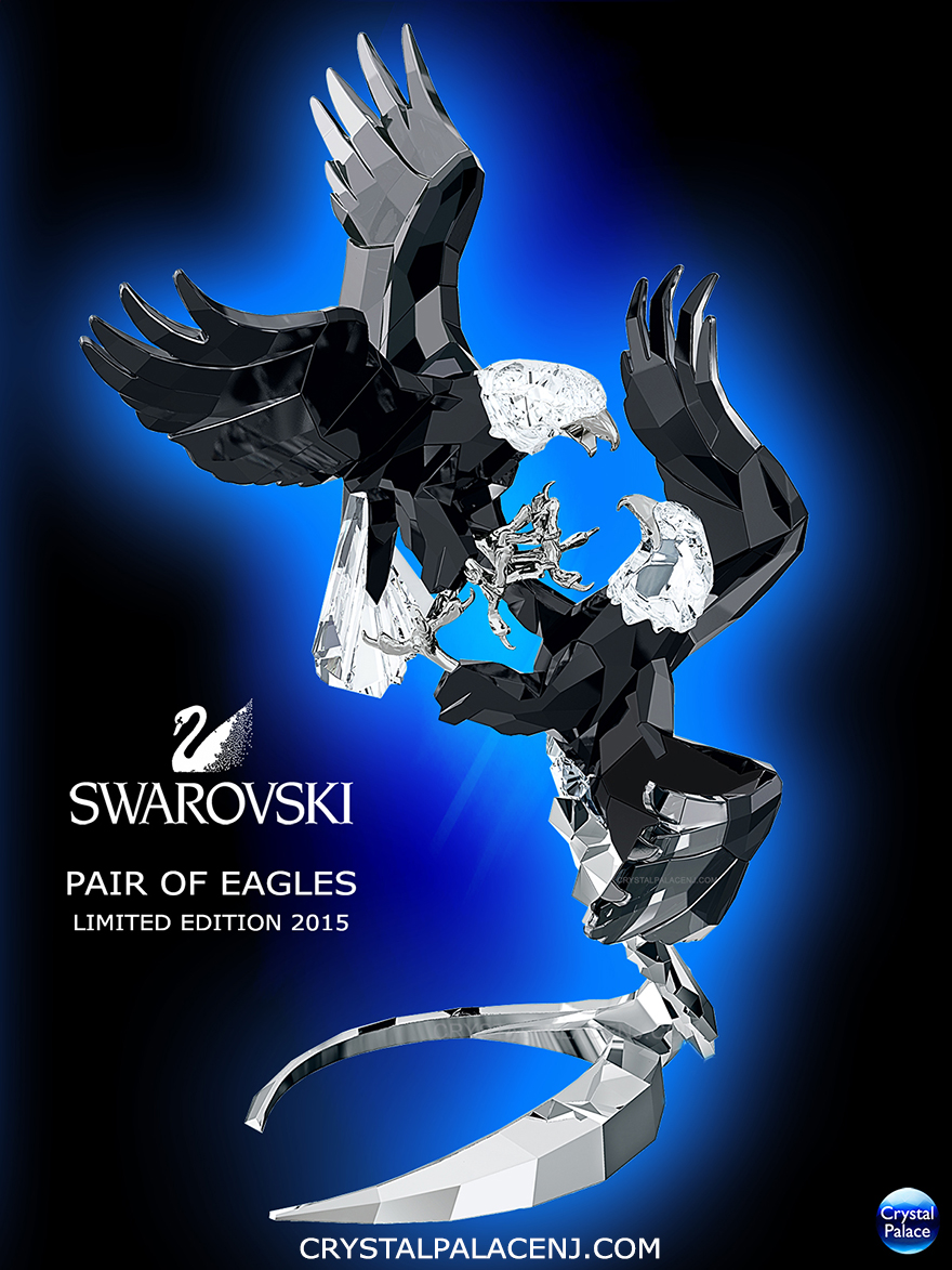 5063130 Swarovski Pair of Eagles Limited Edition 2015, Swarovski 120th Anniversary Eagles