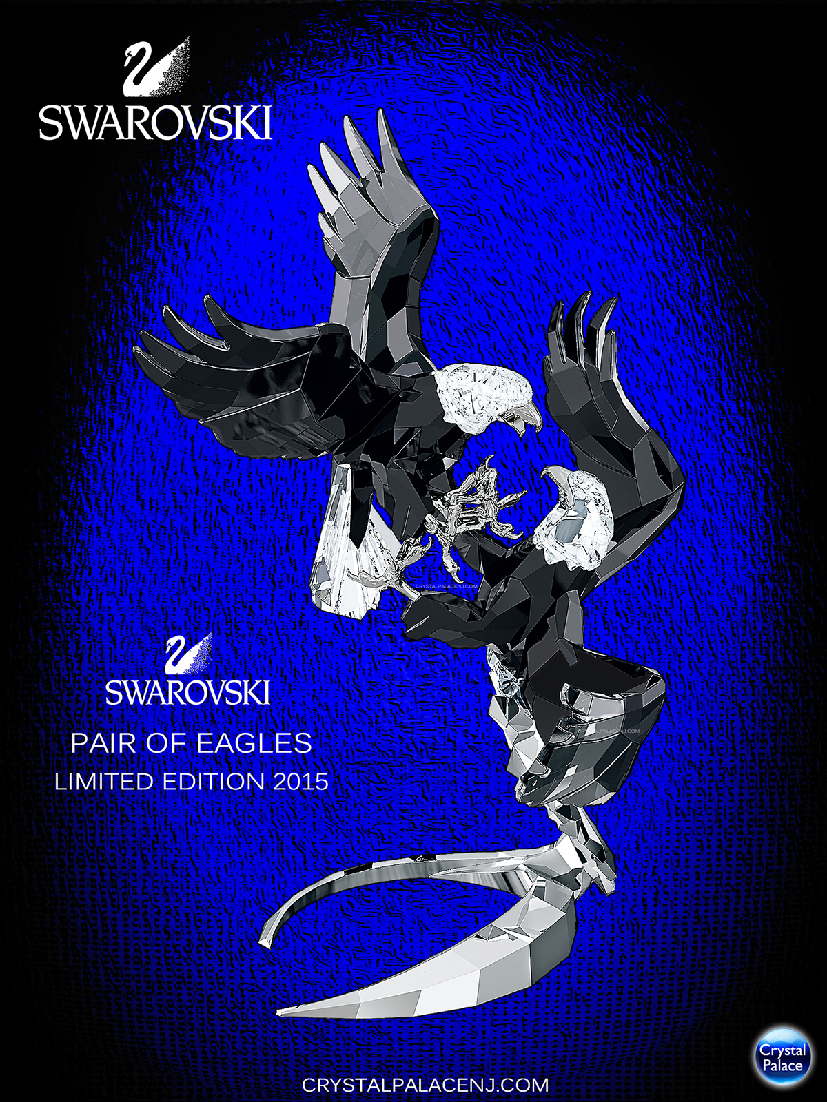 5063130 Swarovski Pair of Eagles Limited Edition 2015, 120th Anniversary Eagles