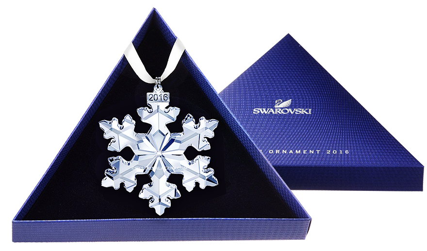 Swarovski 2016 Annual Edition Ornament, Snowflake, 25th Anniversary