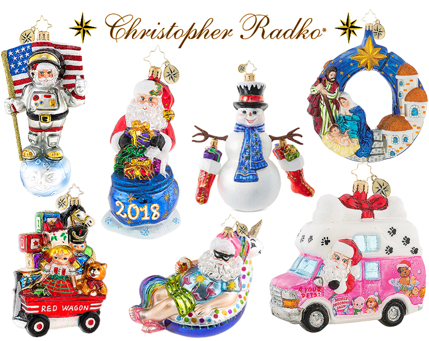 Christopher Radko 2018 Christmas Ornaments SALE