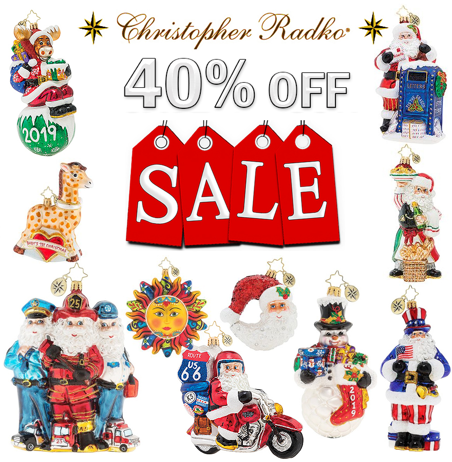 Christopher Radko 2019 Christmas Ornaments SALE