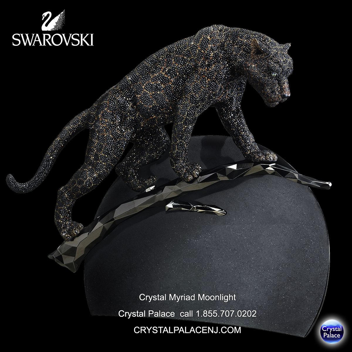 Swarovski Crystal Myriad Moonlight The Black Jaguar 2014
