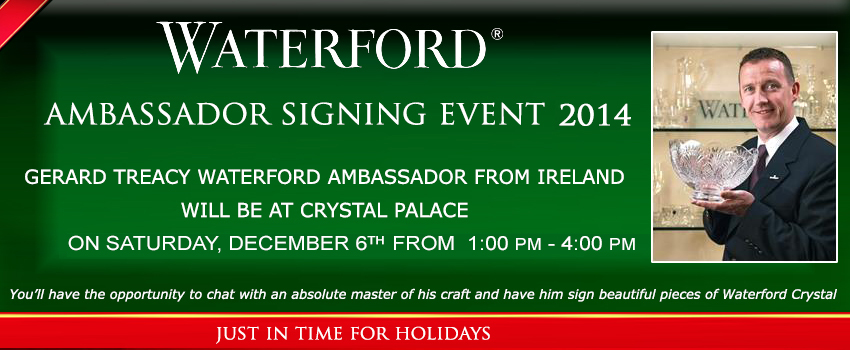 WATERFORD ARTIST SIGNING EVENT 2014 AT CRYSTAL PALACE 2014