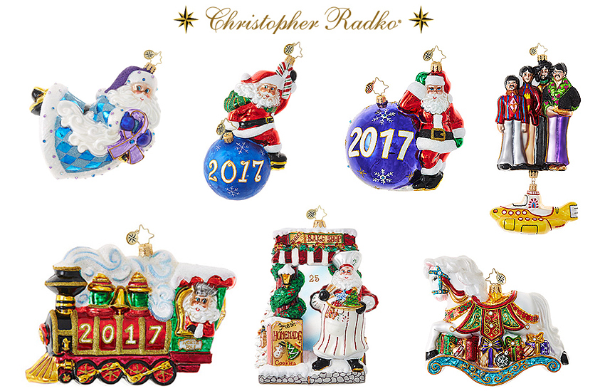 Christopher Radko 2017 Christmas Ornaments SALE 40-50% OFF