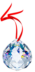 Free Gift with any $50 purchase - 30% leaded Crystal Ball Prism 30mm