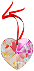 Free Gift with any $75 purchase - Crystal heart Prism 40mm