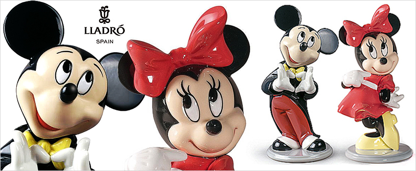 lladro porcelain figurines disney minnie mouse