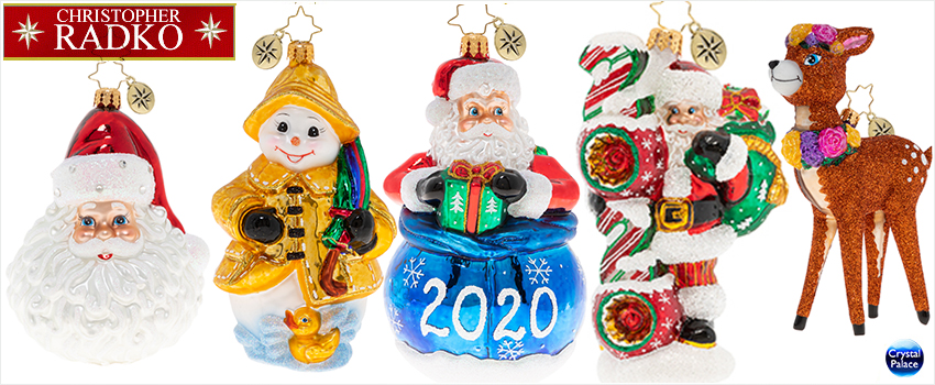2020 Christopher Radko Christmas Ornaments