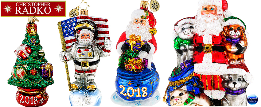 2018 Christopher Radko Christmas Ornaments