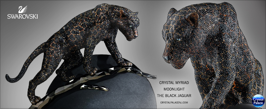 Swarovski Crystal Myriad Moonlight  The Black Jaguar