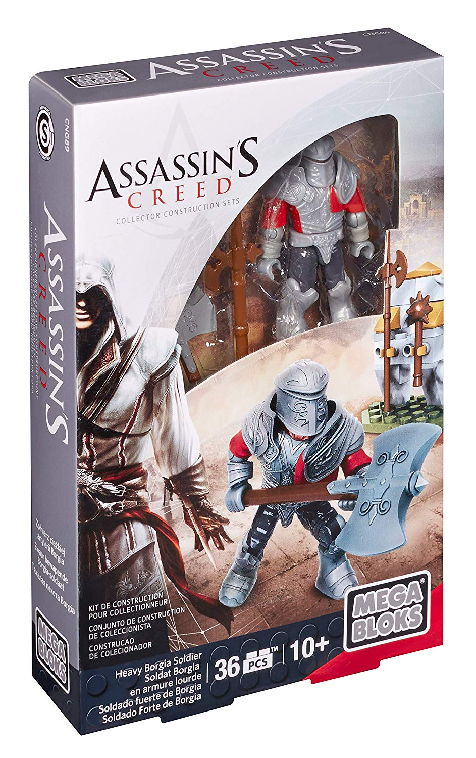 Heavy Borgia Soldier - 2015 Assassin's Creed Mega Bloks Set CNG89 is an officially licensed, authentic product at B.A. Toys featuring this Heavy Borgia Soldier by Assassin's Creed