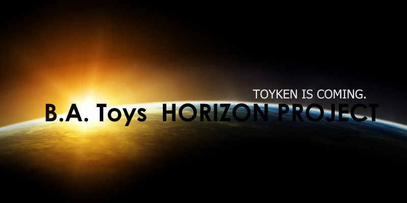 B.A. Toys Horizon Project glaring over the horizon and launching rays of powerful energy featuring Toyken cryptocurrency, hot crypto launch of 2019!