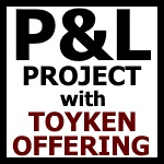 B.A. Toys Platform & Launch Project with Toyken Offering framed tileset, news style placard, front page press release format.