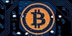 coinclusions banner featuring crytpocurrency bitcoin on microchip computer electronic board