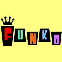 Funko logo, colorful logo made by B.A. Toys.