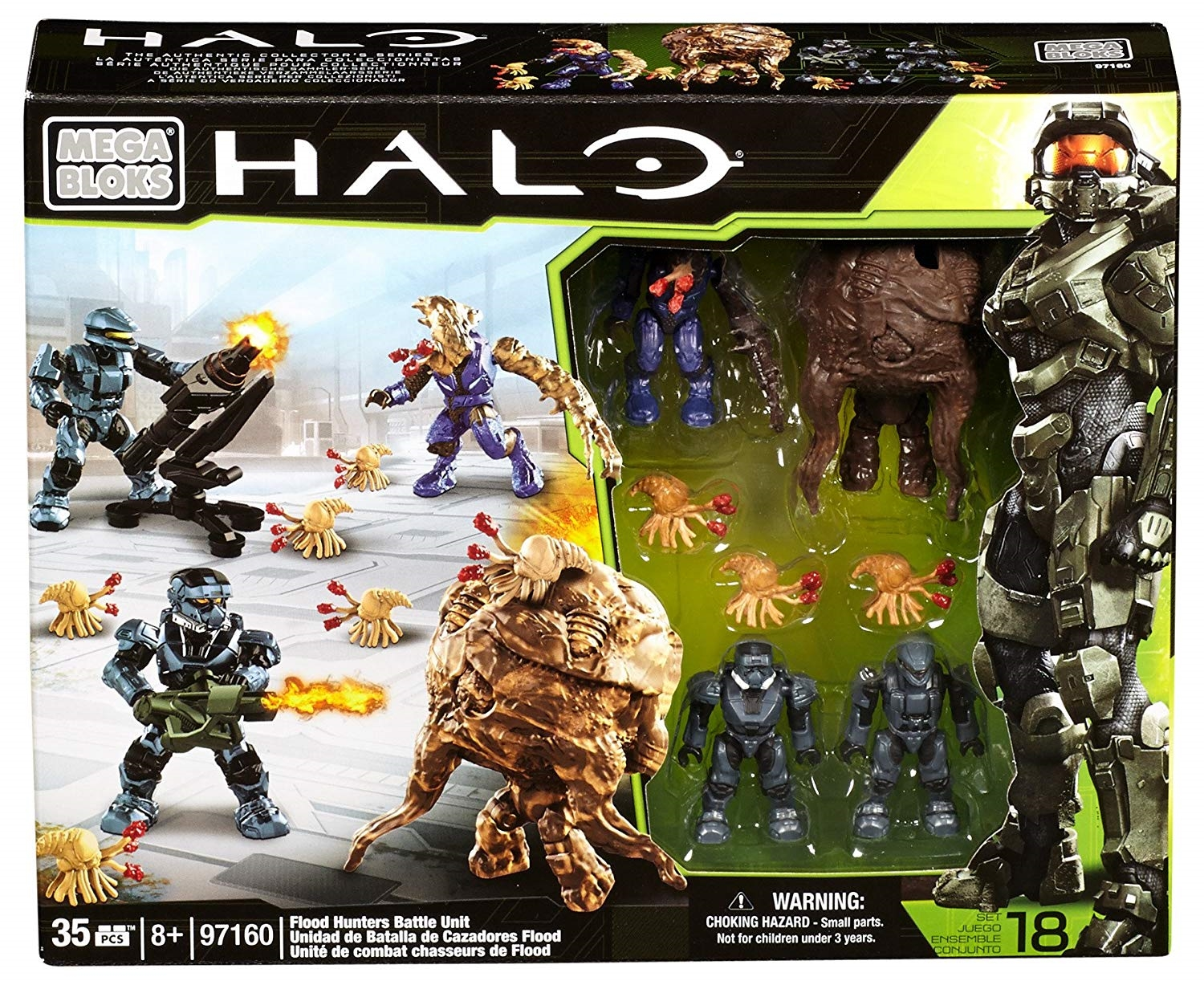 Halo Mega Bloks Exclusive Flood Hunters Battle Unit officially licensed Halo Mega Bloks Exclusive product at B.A. Toys.