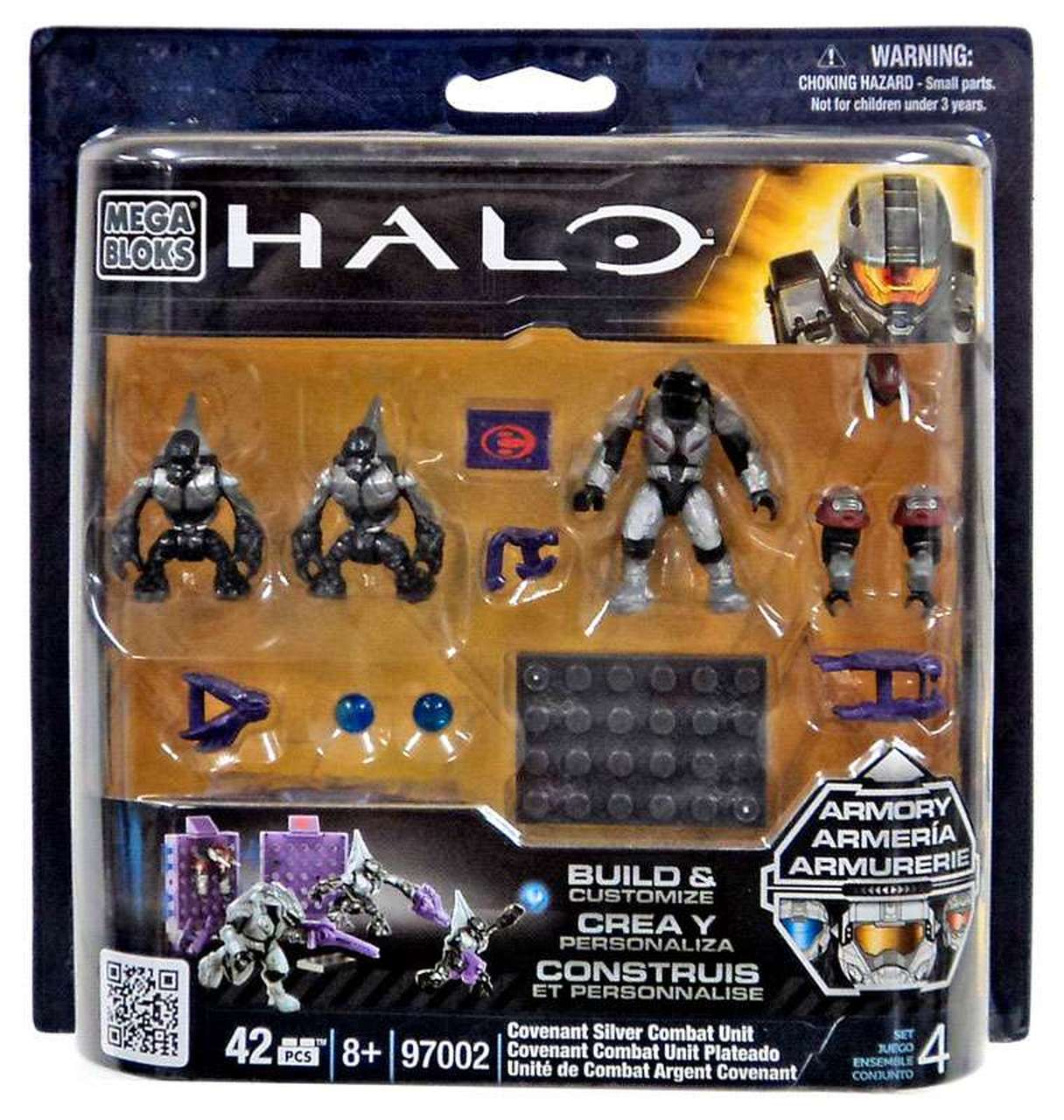 Halo Mega Bloks Covenant Silver Combat Unit officially licensed Halo Mega Bloks product at B.A. Toys.