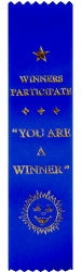 Blue Participation Award says Winners Participate, You are a winner.