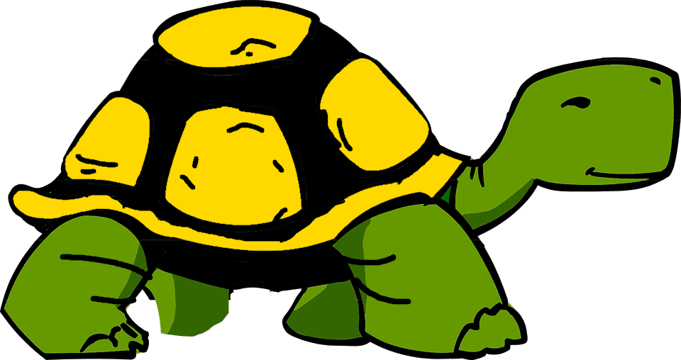 Toyken Achievement Badge Tortoise with black and gold shell.