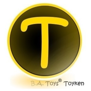 B.A. Toys Toyken Cryptocurrency on Signature Card