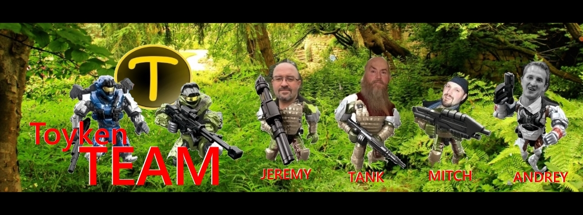 Toyken Team is Project Lead Jeremy, Team Events Tank, Social Media Hammer Mitch and Public Relations Advisor Andrey from B.A. Toys.