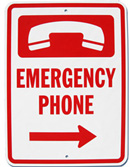 Emergency Phone Sign