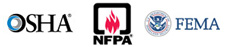 OSHA®, NPFA72® and FEMA Best Practices and Code