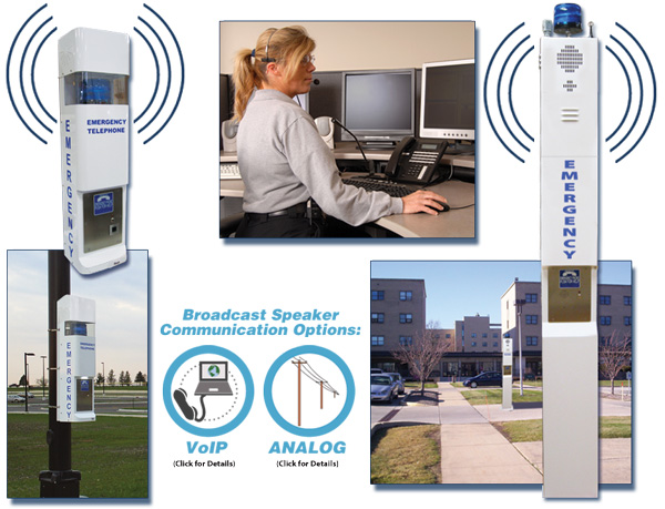 Wide Area Broadcast Speakers and Notification System (available in Analog, VoIP & Wi-Fi VoIP)