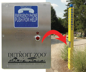Rath Security Phones at Detroit Zoo, Royal Oak, MI