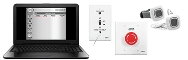 RATH's Wireless Duress/Panic System is an emergency call system ideal for schools, hotels, assisted living, health care and the banking industries
