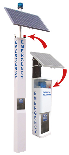 Solar Tower & Solar Call Station featuring Service Indicator