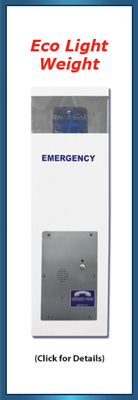 30 inch Blue Light Emergency Call Station (Eco)
