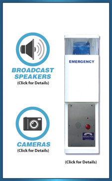 36 inch Blue Light Emergency Call Station (Wired)
