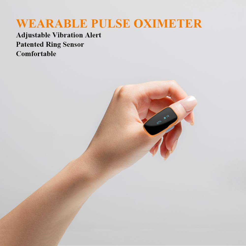 FL310 Pulse Oximeter with Vibration Alarm for IOS and Android