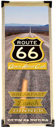 Single Panel 4.25 W x 11 H Route 66 Menu Cover