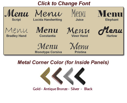 Stoney Creek™ Available Fonts