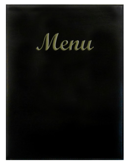 Gold River™ 8.5 x 14 Menu Cover Black with Gold Imprinting
