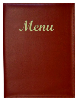 Gold River™ 8.5 x 11 Menu Cover Burgundy with Gold Imprinting
