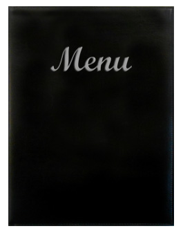 Gold River™ 8.5 x 11 Menu Cover Black with Silver Imprinting