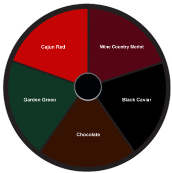 Leatherette Cafe Menu Color Options: Click wheel to view sample menu