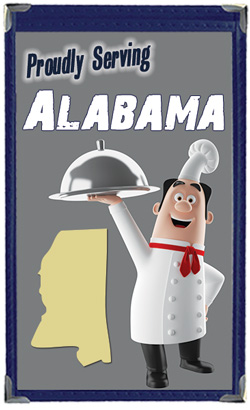 Great Menu Covers proudly serves restaurants in Alabama with their menu covers and accessories