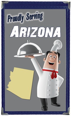 Great Menu Covers proudly serves restaurants in Arizona with their menu covers and accessories