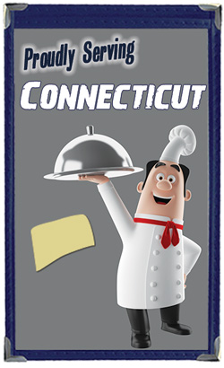 Great Menu Covers proudly serves restaurants in Connecticut with their menu covers and accessories