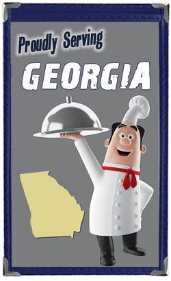 Great Menu Covers proudly serves restaurants in Georgia with their menu covers and accessories