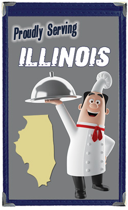 Great Menu Covers proudly serves restaurants in Illinois with their menu covers and accessories