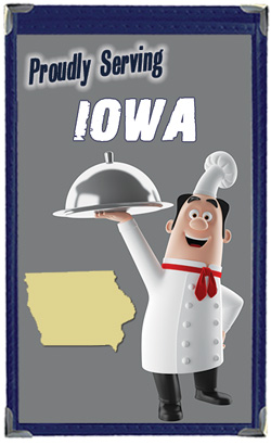 Great Menu Covers proudly serves restaurants in Iowa with their menu covers and accessories