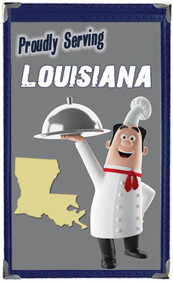 Great Menu Covers proudly serves restaurants in Louisiana with their menu covers and accessories