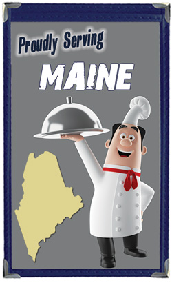 Great Menu Covers proudly serves restaurants in Maine with their menu covers and accessories